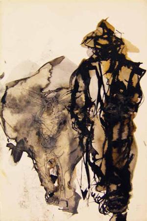 Quadro di Beppe Fabbrini Figura - mista cartone