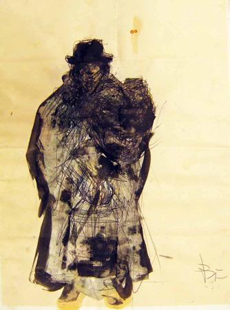 Quadro di Beppe Fabbrini Madre e figlio - Pittori contemporanei galleria Firenze Art