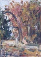 Work of Enzo Pregno - Paesaggio oil canvas