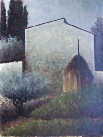 Quadro di Sereno Serena Paesaggio - olio cartone