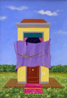 Quadro di Franco Lastraioli - Appartamento incartato acrilico tavola