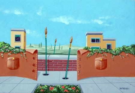 Quadro di Franco Lastraioli Il mio paesaggio - acrilico tavola