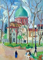 Quadro di Rodolfo Marma - La Sinagoga olio tela