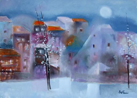 Art work by Lido Bettarini Il ritorno della primavera - oil canvas