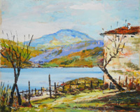 Quadro di V. Gnudi  Lago di Suviana (Badi)