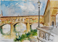 Quadro di Rodolfo Marma  Ponte Vecchio (Firenze)