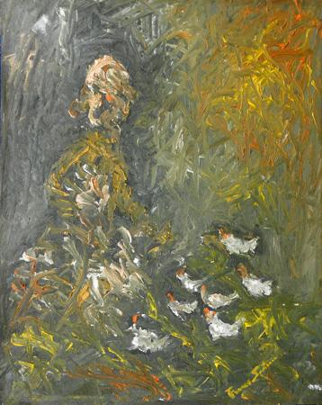 Quadro di Franco Santini Figura  - Pittori contemporanei galleria Firenze Art