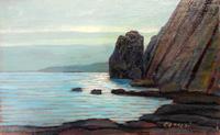 Quadro di  Cataldi - Paesaggio di mare olio tavola