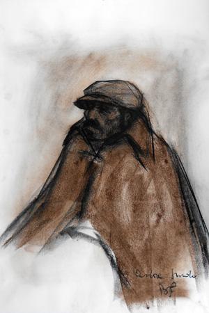 Art work by Beppe Fabbrini Pastore Sardo - matita paper