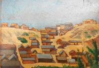 Work of G. Corti - Paesaggio oil table