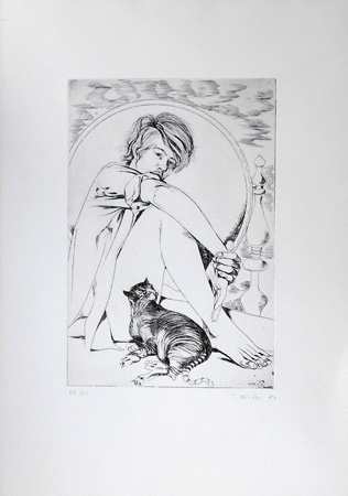 Art work by Piero Nincheri Figura - lithography paper
