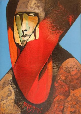 Quadro di Alfio Rapisardi Figura - olio tela