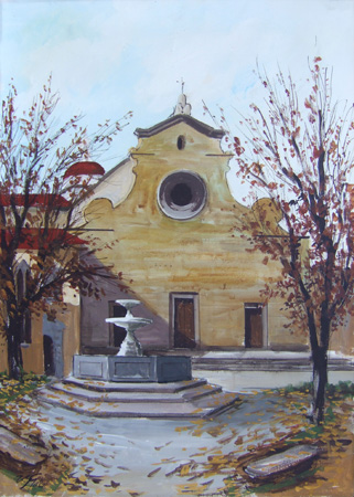 Art work by Bruno Vasco Gori S. Spirito - Firenze - oil canvas