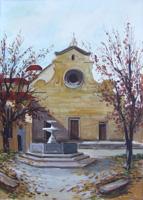 Quadro di Vasco Gori - S. Spirito - Firenze olio tela