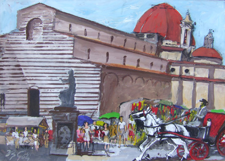 Art work by Vasco Gori Firenze - oil canvas