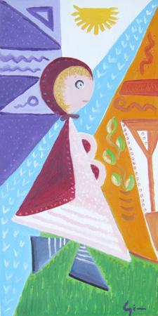 Art work by Graziella Giannini Omaggio a Picasso - oil canvas