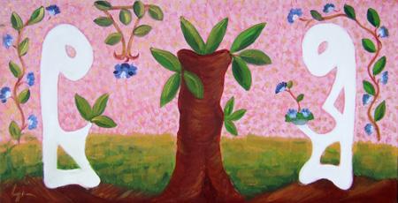 Art work by Graziella Giannini Lui e Lei - oil canvas