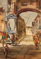 Quadro di Firma Illeggibile  Milano Vecchia - Colonne di S. Lorenzo