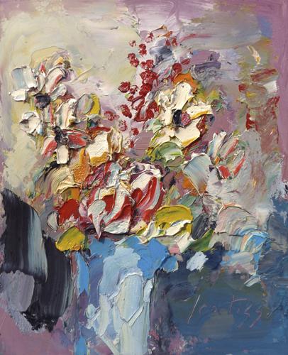 Quadro di Sergio Scatizzi Fiori - olio tavola