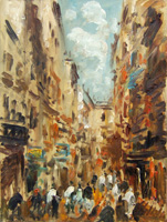 Work of Emanuele Cappello - Strada di città oil canvas