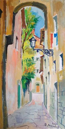 Art work by Rodolfo Marma Via dei Sapiti - oil canvas