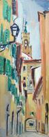 Quadro di Rodolfo Marma - Via Vinegia olio faesite