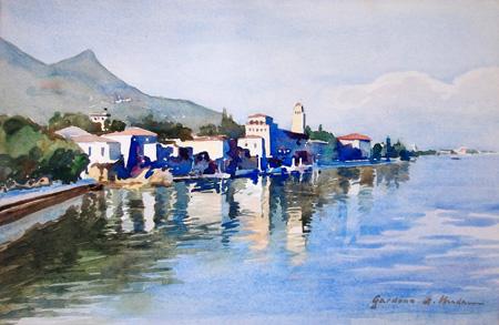 Quadro di Aldebrando Madami Gardena - acquerello carta