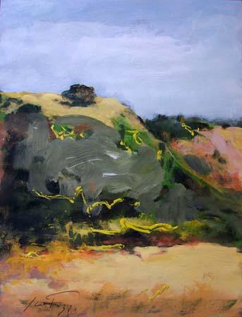 Quadro di Sergio Scatizzi Paesaggio - mista carta