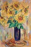 Quadro di Rodolfo Marma - Vaso con fiori olio tavola