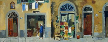 Quadro di Rodolfo Marma Muro di Oltrarno - Pittori contemporanei galleria Firenze Art
