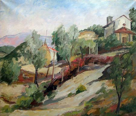 Art work by Silvio Pucci Paesaggio - oil canvas