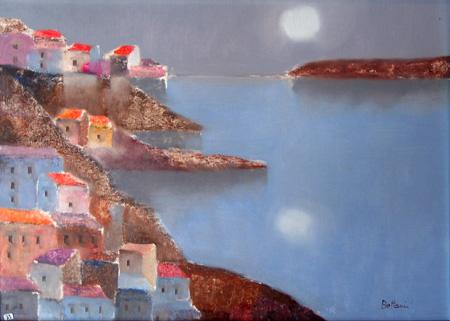 Quadro di Lido Bettarini La Costa Amalfitana - olio tela