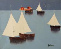 Work of Lido Bettarini  Vele bianche