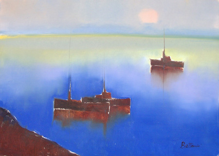 Art work by Lido Bettarini Marina - oil canvas