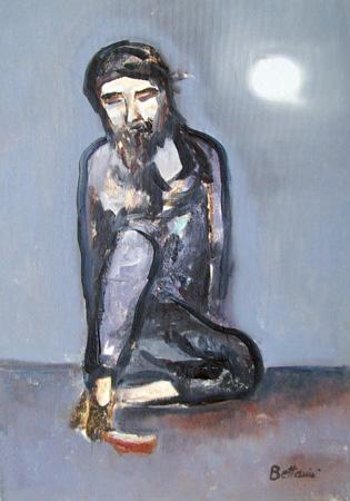 Quadro di Lido Bettarini Cristo - olio tela
