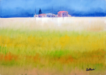 Art work by Lido Bettarini Campo di grano - oil canvas