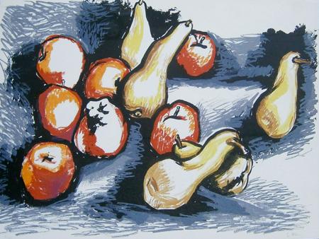Art work by Renato Guttuso Composizione - lithography paper