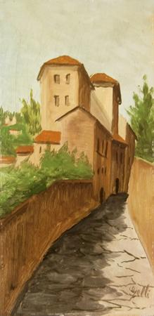 Quadro di O. Gelli Paesaggio - Pittori contemporanei galleria Firenze Art