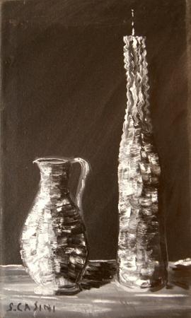 Quadro di S. Casini Composizione - olio tela
