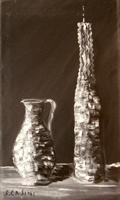 Quadro di S. Casini - Composizione olio tela