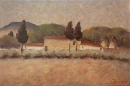 Quadro di Sereno Serena Paesaggio - olio faesite