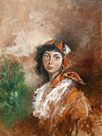 Art work by Norberto Martini Figura femminile - oil canvas