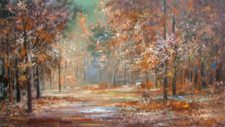 Art work by Norberto Martini Autunno - oil canvas