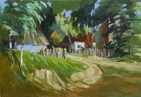Quadro di Henryk Kmiec  Paesaggio