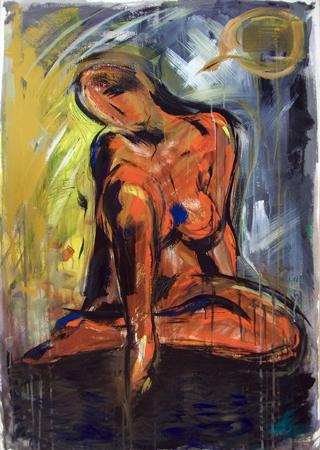 Quadro di Vanessa Katrin Nudo - olio carta