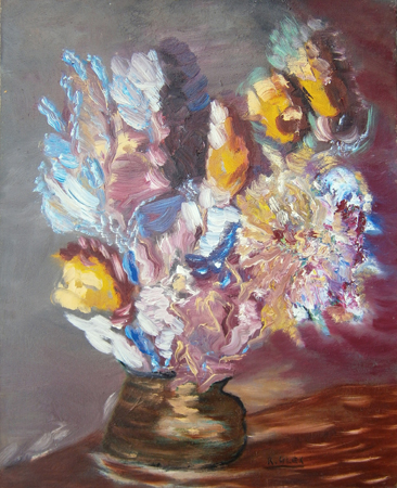 Art work by Roberto (Alex R.) Alessandrini Vaso di fiori - oil canvas