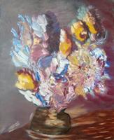 Quadro di Roberto (Alex R.) Alessandrini - Vaso di fiori olio tela