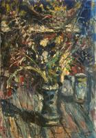 Quadro di Arrigo Dreoni - Vaso floreale olio tela