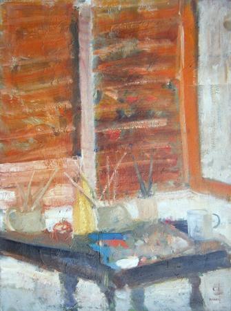 Quadro di Enzo Masieri Interno - olio tela