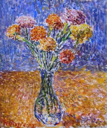 Quadro di Guido Borgianni Vaso di fiori - olio tela